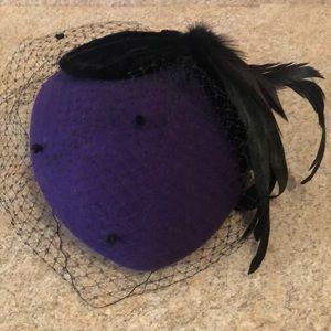 Purple dress hat